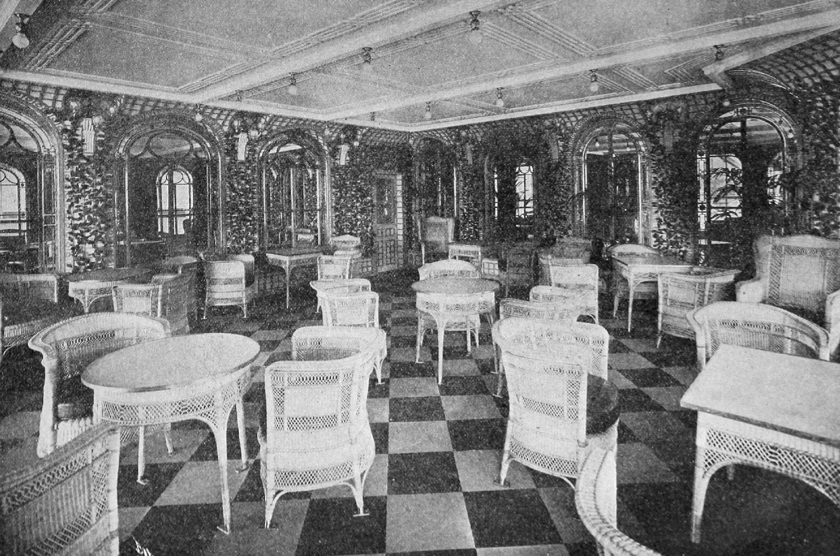 The Concert Room. This was a ladies' only lounge where women could read and listen to music.