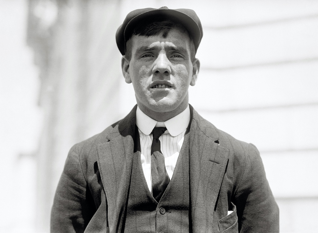 Fredrick Fleet, the lookout who spotted the iceberg, survived the sinking. Photo taken in April 1912.