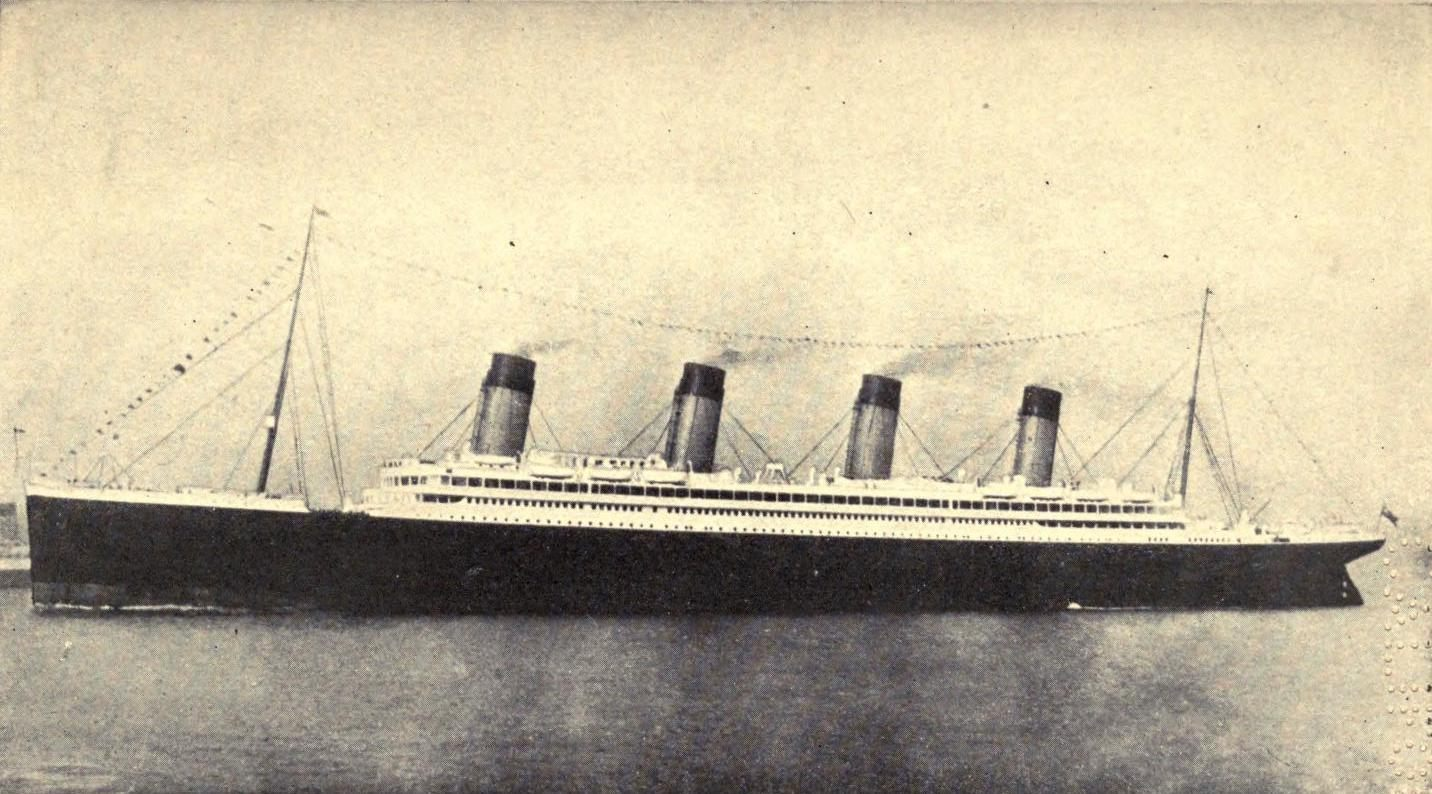 This is the last photo of the Titanic taken as she leaves Southhampton on her maiden journey.