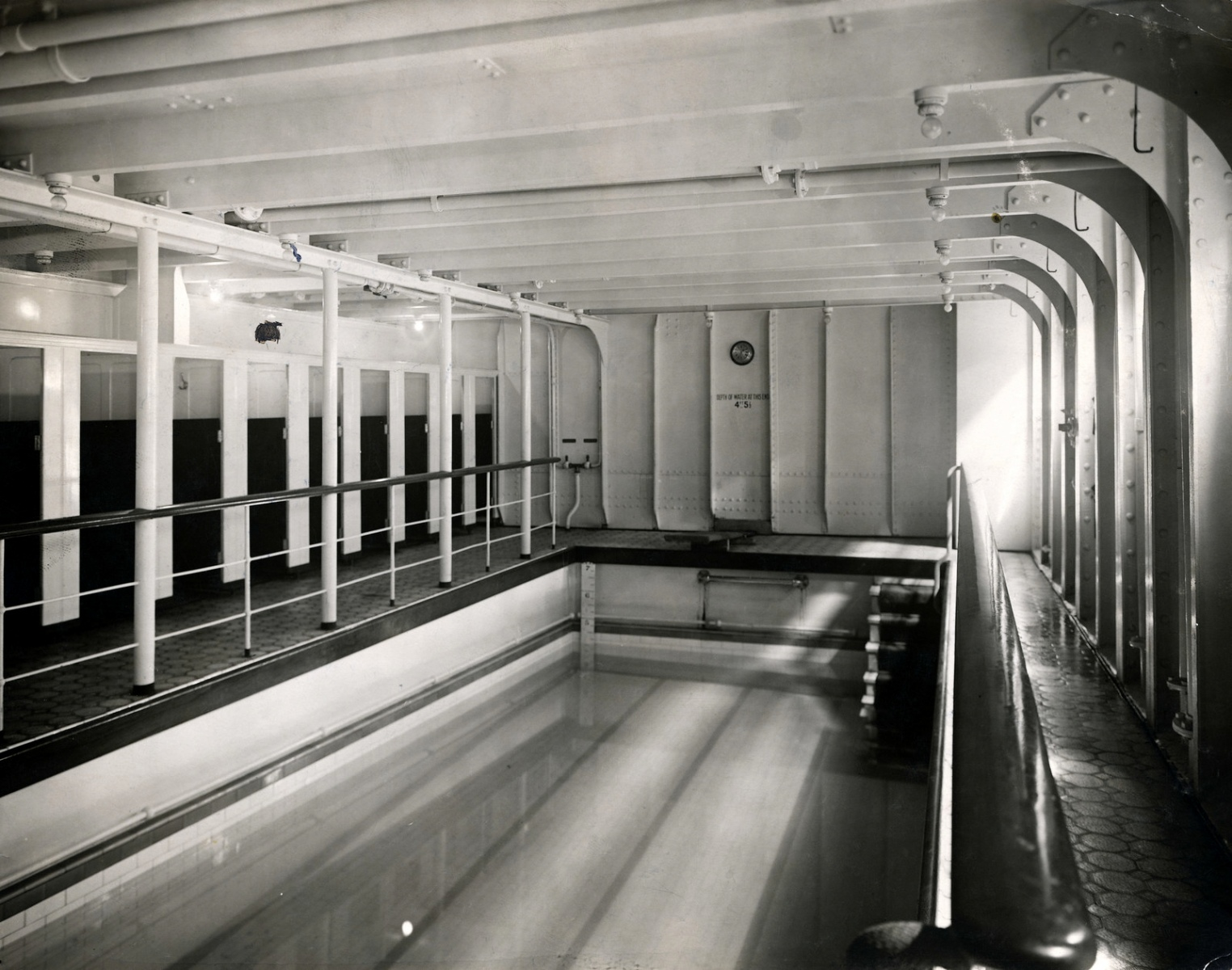 The swimming pool on the Titanic.
