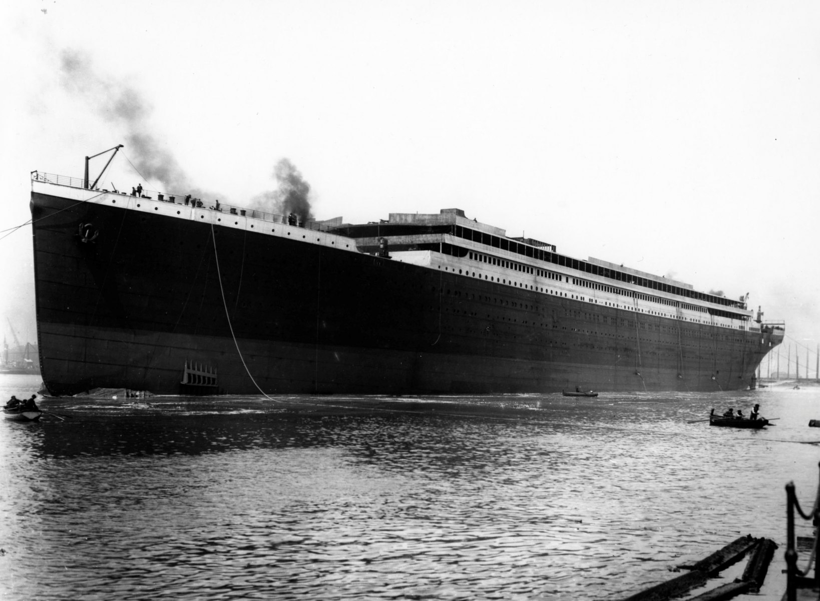Titanic launched at Belfast.