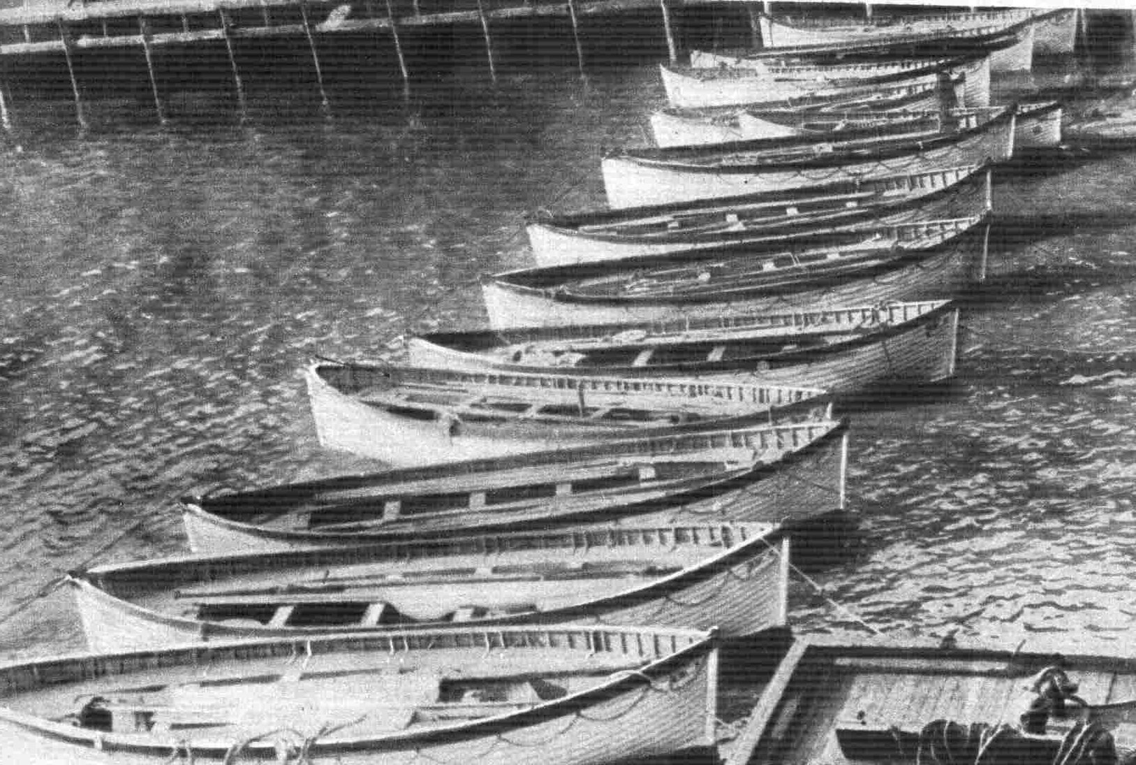 Titanic lifeboats that have been recovered.
