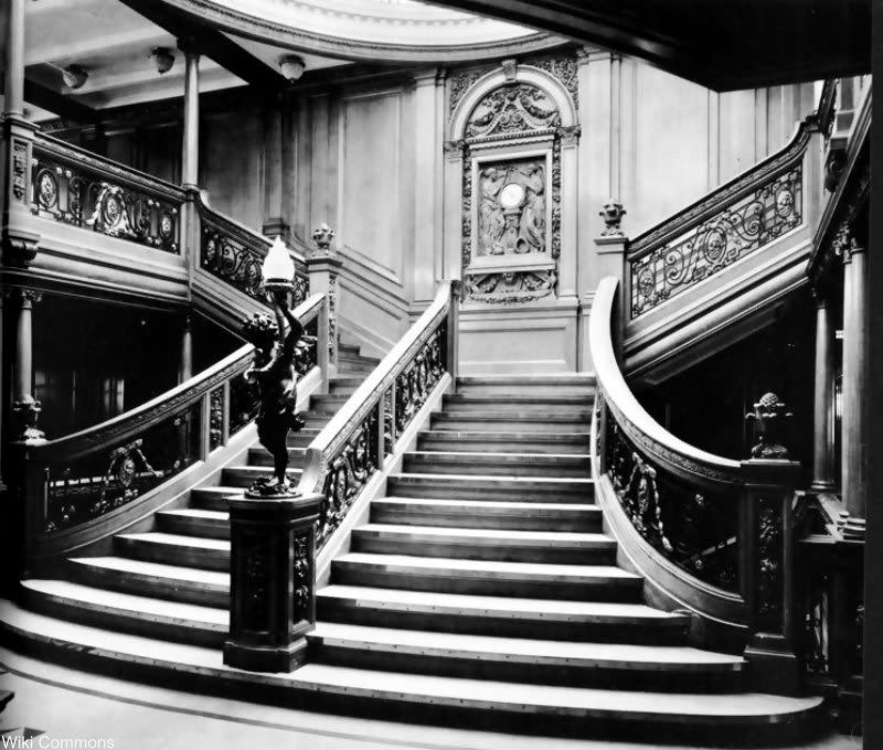 This is the Grand Staircase of the RMS Olympic. It is said to be identical to the RMS Titanic.