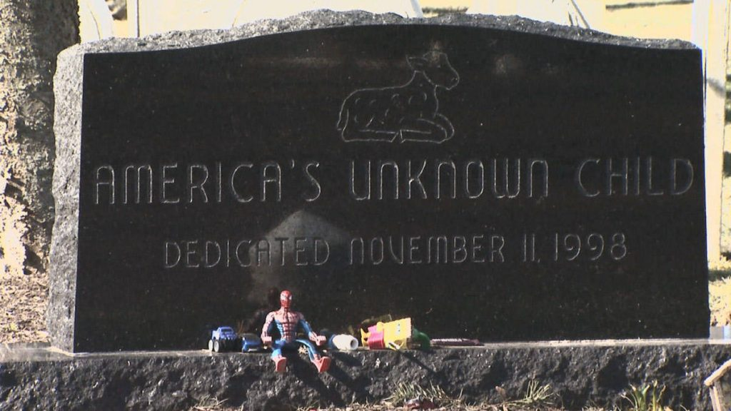 Tombstone of America's unknown child.