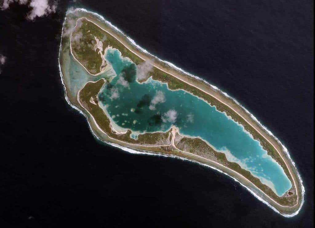 The island of Nikumaroro, Kiribati, formerly known as Gardner Island.