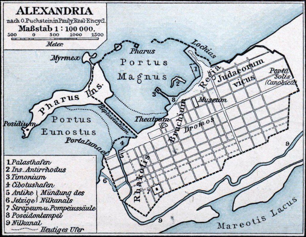 Map of ancient Alexandra.