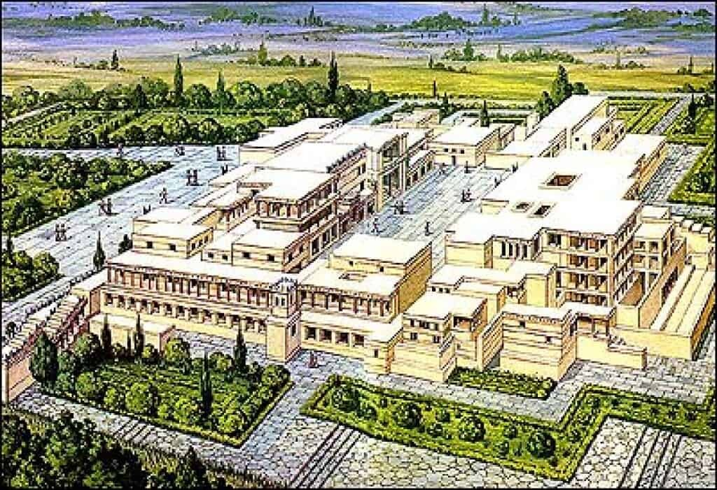 Drawing of a Minoan Palace.