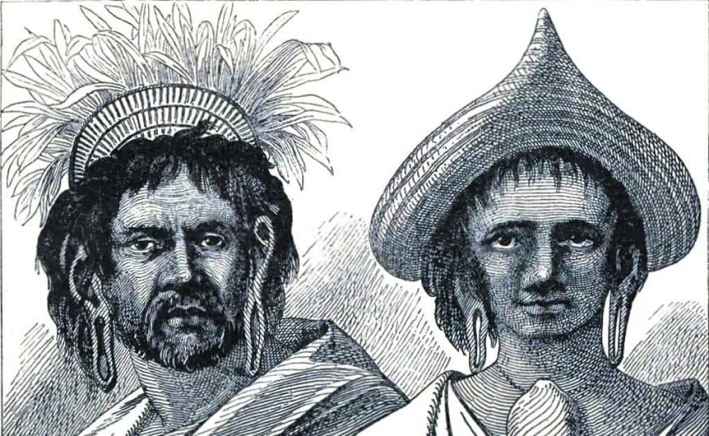 "Copy of early depiction of the Long Ears. Source: ""The Great Navigators of the Eighteenth Century"" Jules Verne 1880 on Easter Island history."