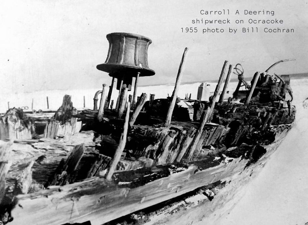Wreckage of the Carroll A. Deering.