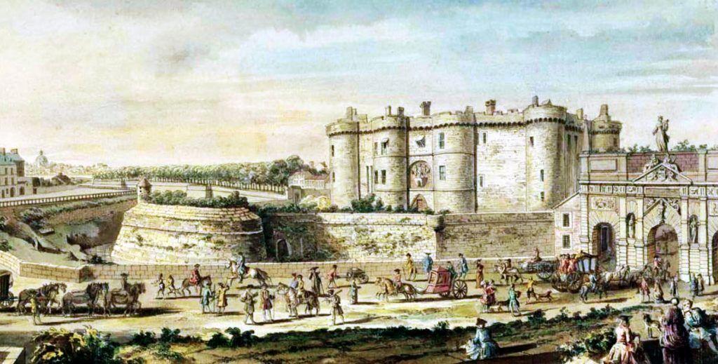 Bastille as it looked in 1715.