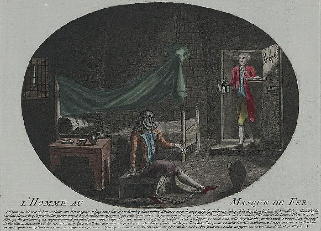 The Man in the Iron Mask. Anonymous print from 1789.