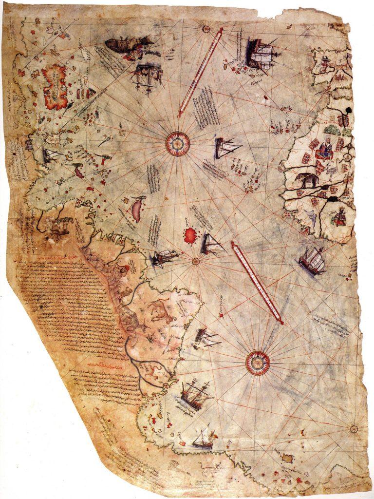 Карта Пири Рейса 1513 года.