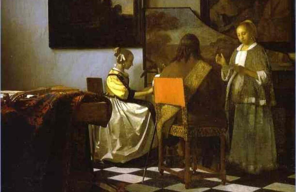 The Concert by Dutch painter Johannes Vermeer.