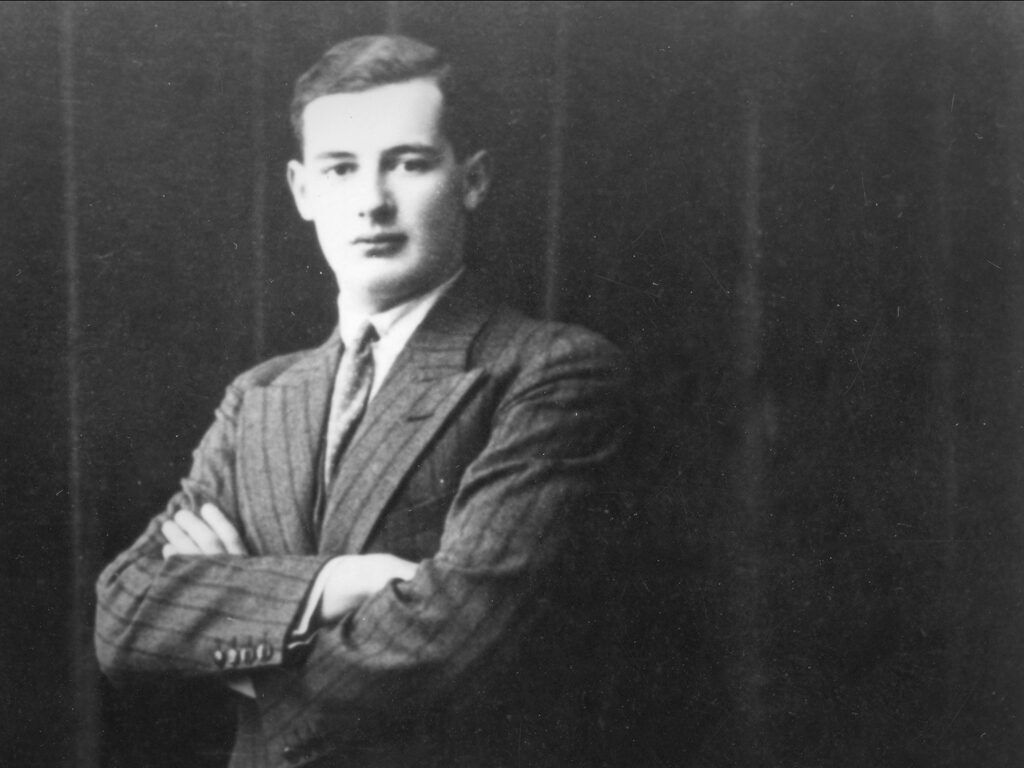 Wallenberg's senior class picture from the University of Michigan.