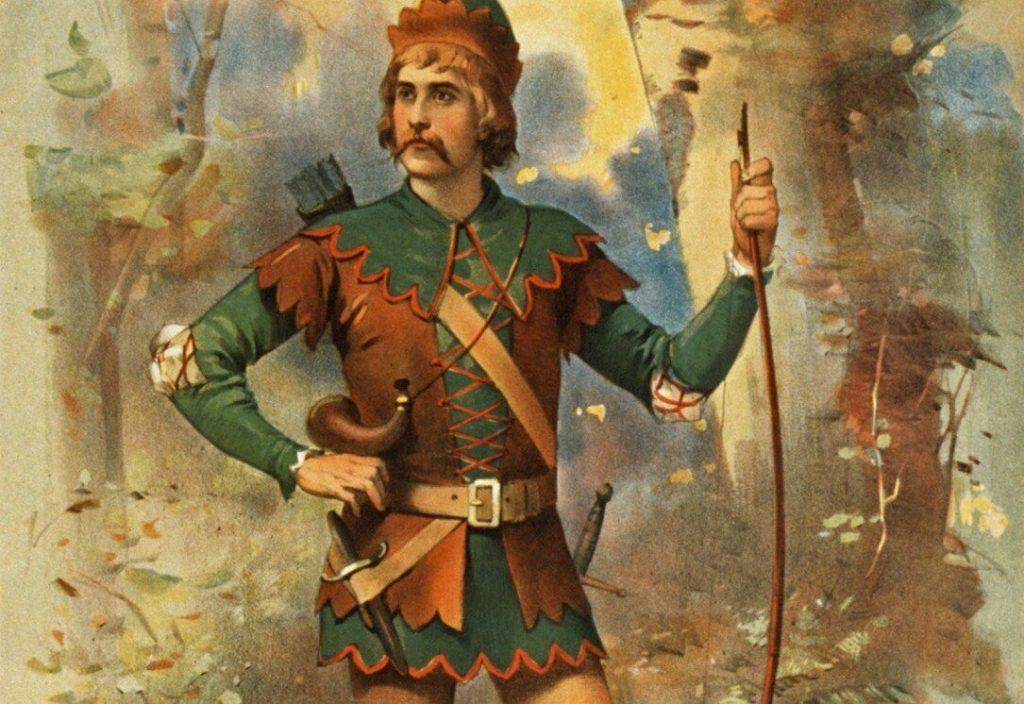 Frederick Warde as Robin Hood (1895).
