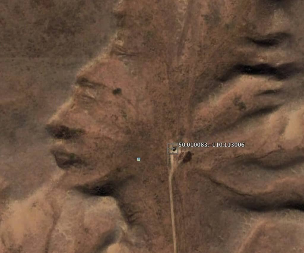 Mysterious places on google earth: The Badlands Guardian