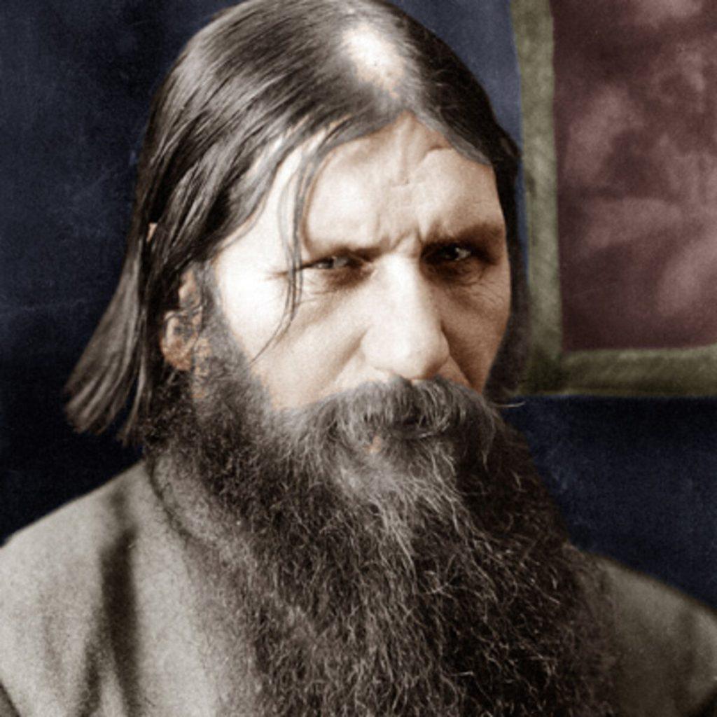 A color photograph of Grigori Rasputin.