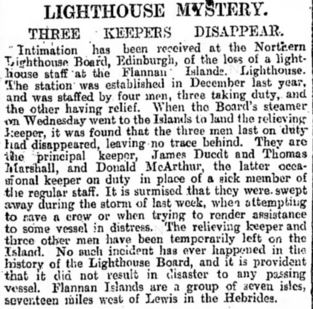The Manchester Weekly Times newspaper article dated Friday, December 28, 1900.