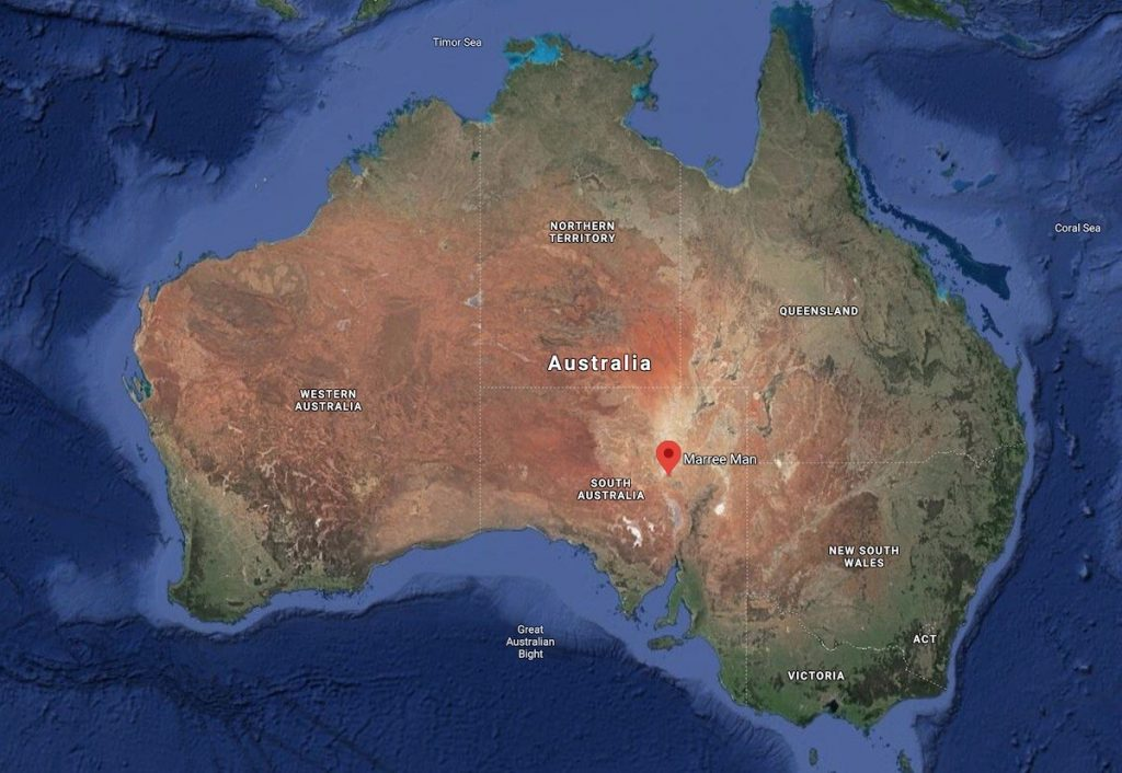 Map of Australia showing its location.