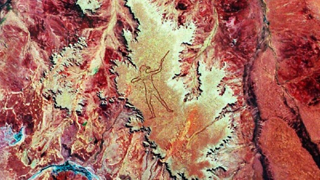 Landsat 5 Thematic Mapper image of the Marree Man