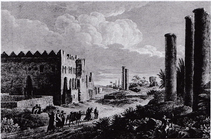 A 1784 depiction of Canopic Street, Alexandria.