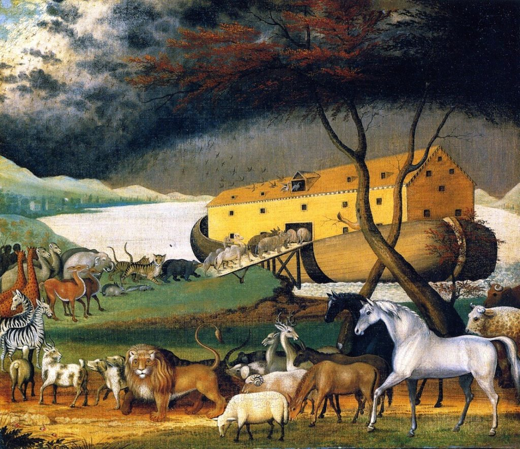 Noah's Ark, oil on canvas painting by Edward Hicks, 1846 Philadelphia Museum of Art.