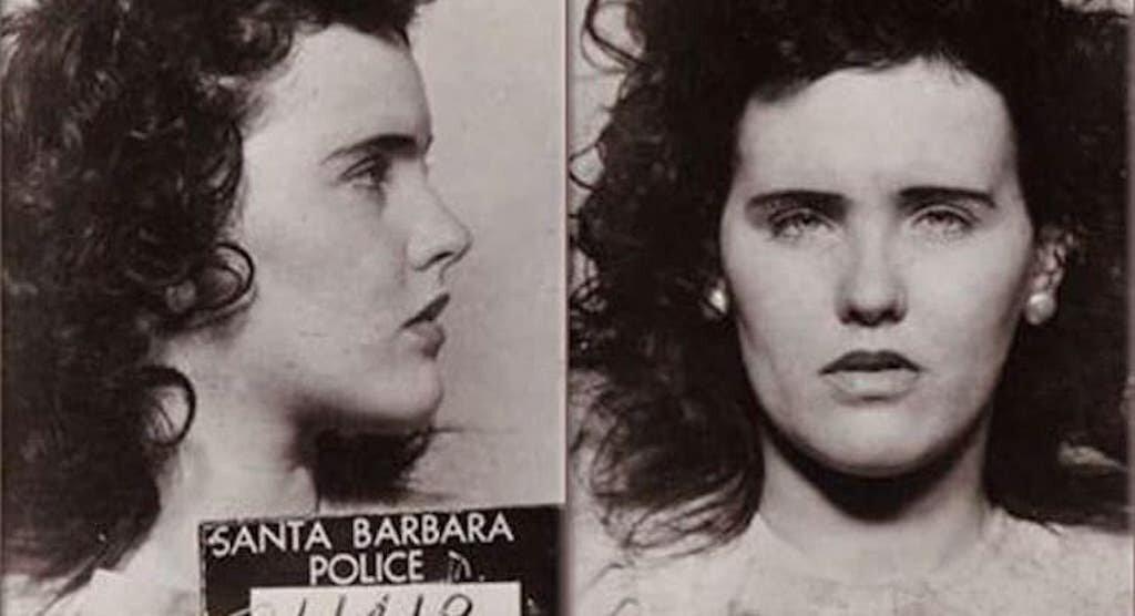 A mug shot of Elizabeth Short (AKA: Black Dahlia). On eo fo the four famous mysteries in U.S. history.