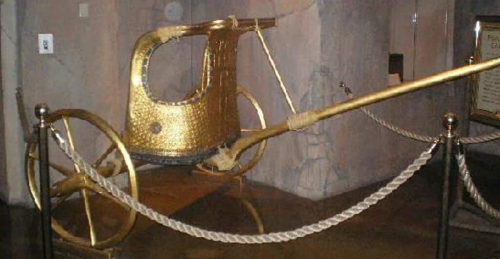 King Tut's chariot.