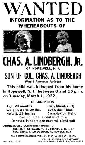 Charles Lindbergh Jr. Missing Flier