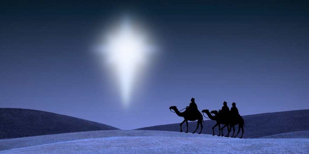 Three Kings Behold the Star of Bethlehem.
