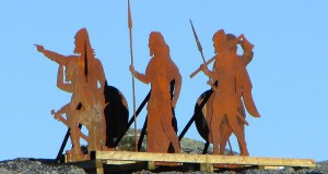 Norse statues installed above L'Anse aux Meadows historical site, Newfoundland and Labrador