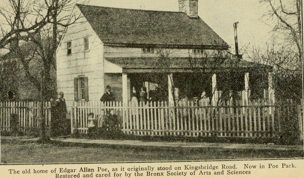 The former cottage home of Edgar Allan Poe. c.1920.