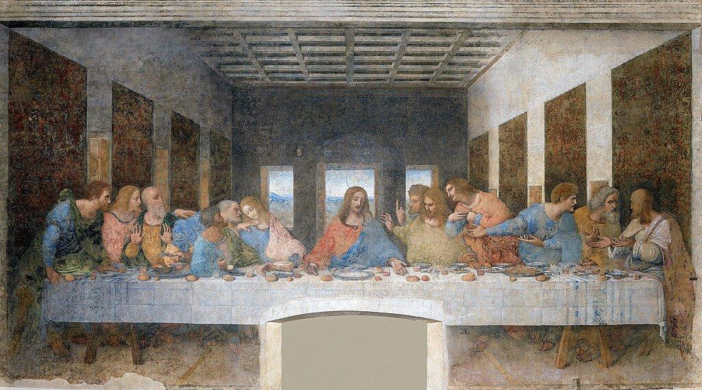 The Last Supper by Leonardo Da Vinci was painted in the 1490s.