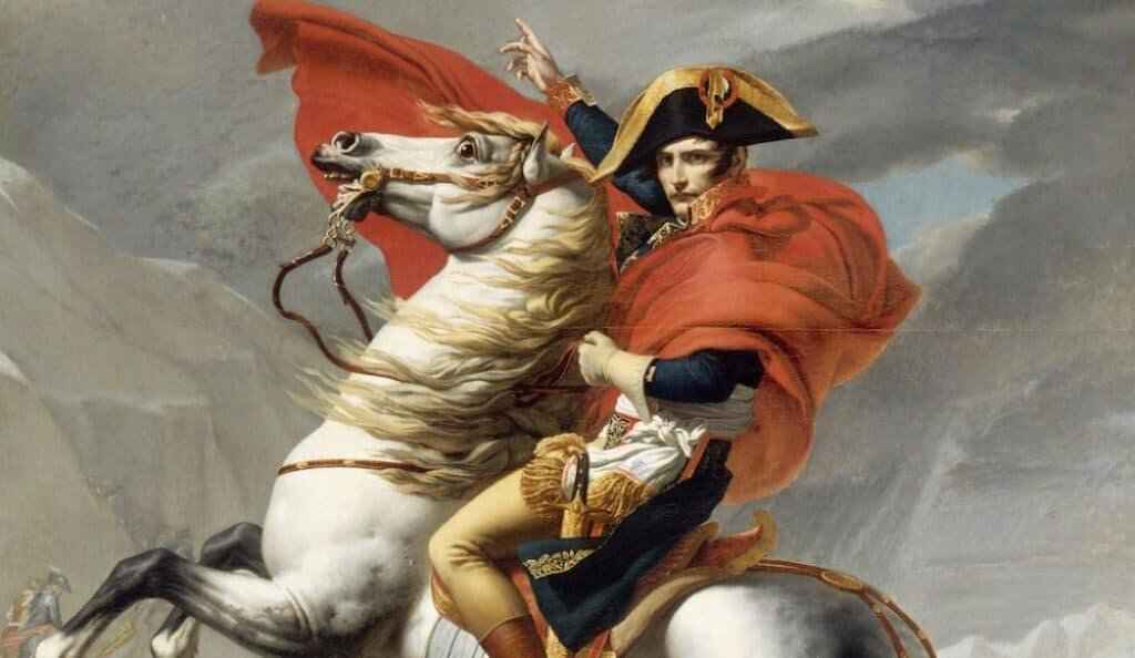 The psychology of Napoleon Bonaparte supported his military goals and resulted in him being loved by Frenchmen. Public domain.