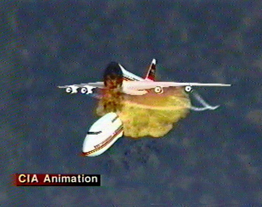 CIA animation of the explosion.