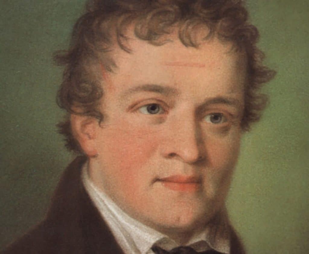 Portrait of Kaspar Hauser in 1830.