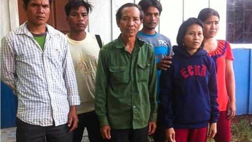 Tak, formally known as Rochom P'ngieng stands with her Vietnamese family in this photo taken in 2016.