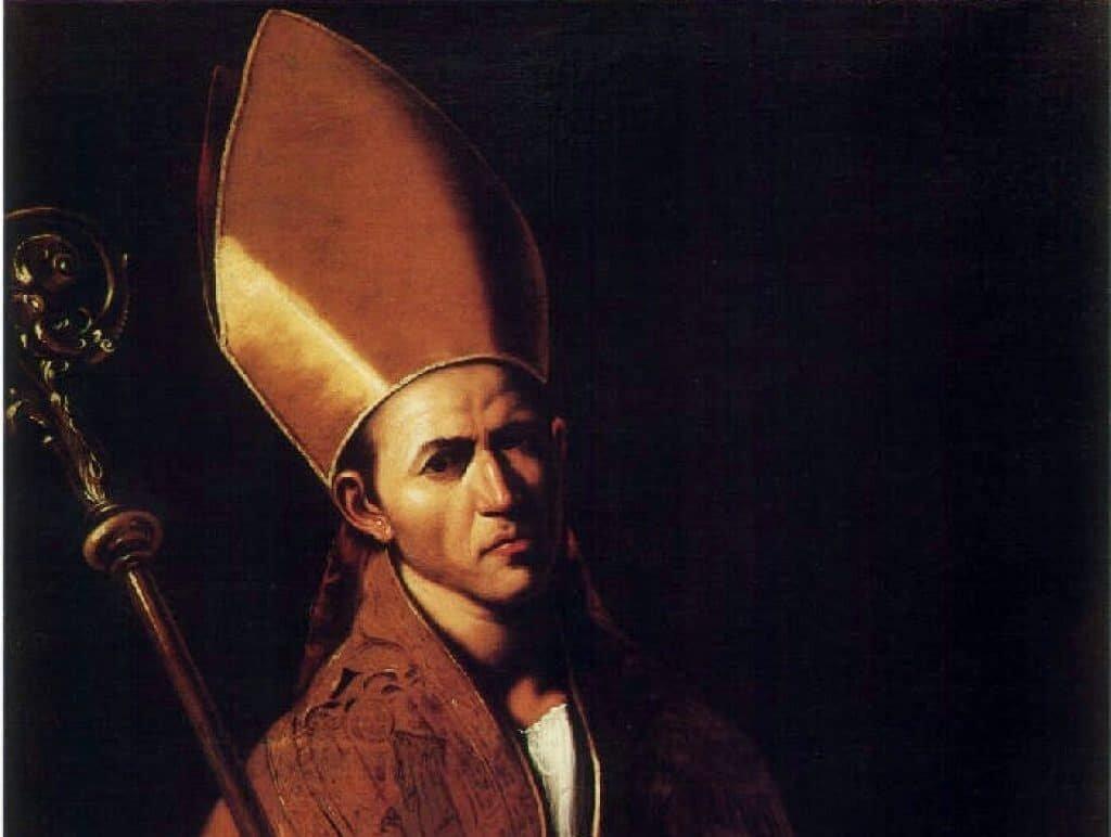 Traditional portrait of Saint Januarius. Source: public domain.