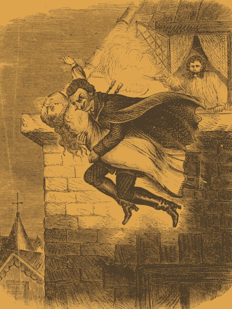 Spring Heeled Jack, from an 1867 illustration.