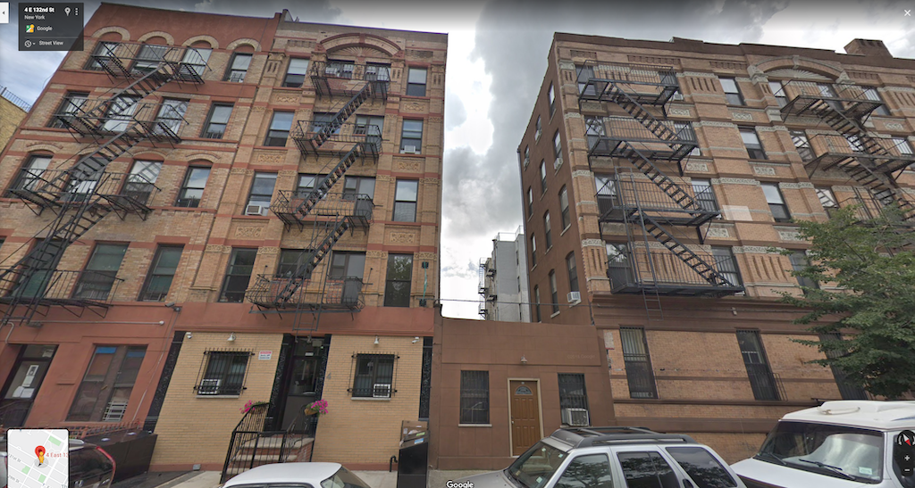 The locked room mystery of Isidor Fink - 4 East 132nd Street, New York as it looks today.