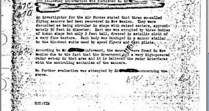 FBI Memorandum Regarding the Roswell Incident