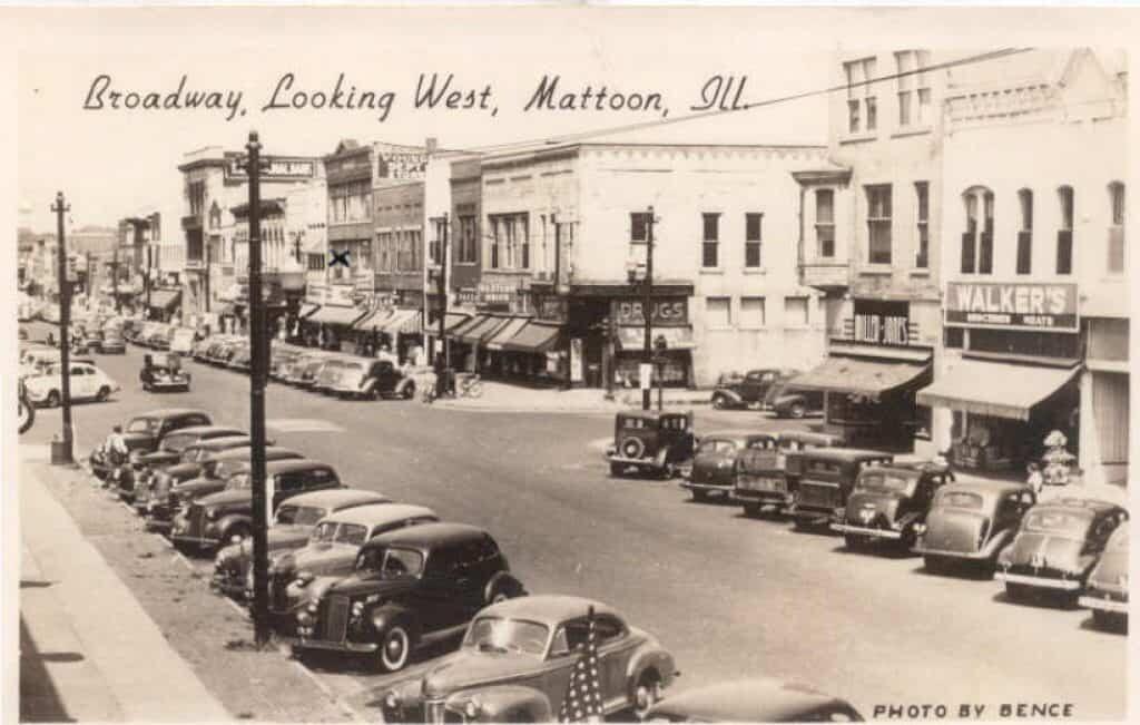 The mad gasser. Photograph of Mattoon, IL circa 1940.