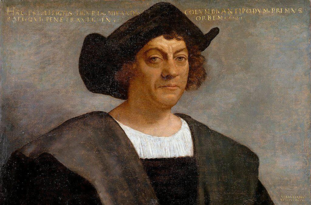 Posthumous portrait of Christopher Columbus.