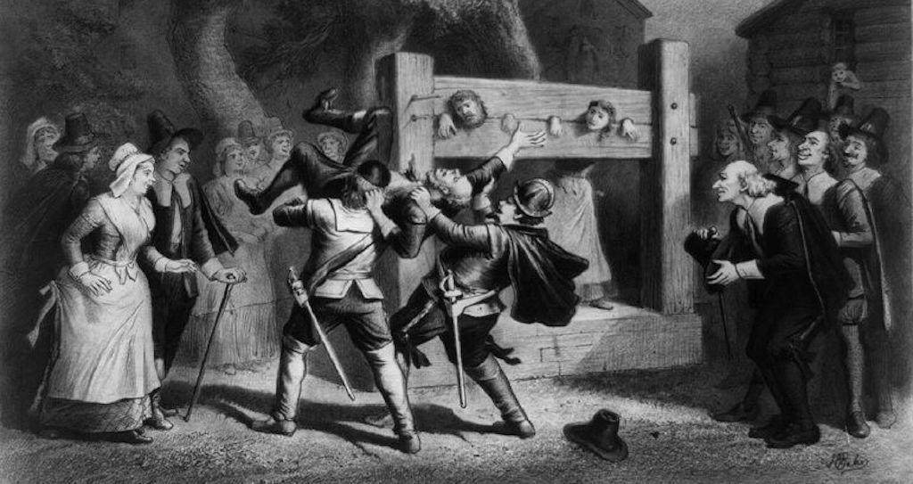 Mass hysteria during witch hunts