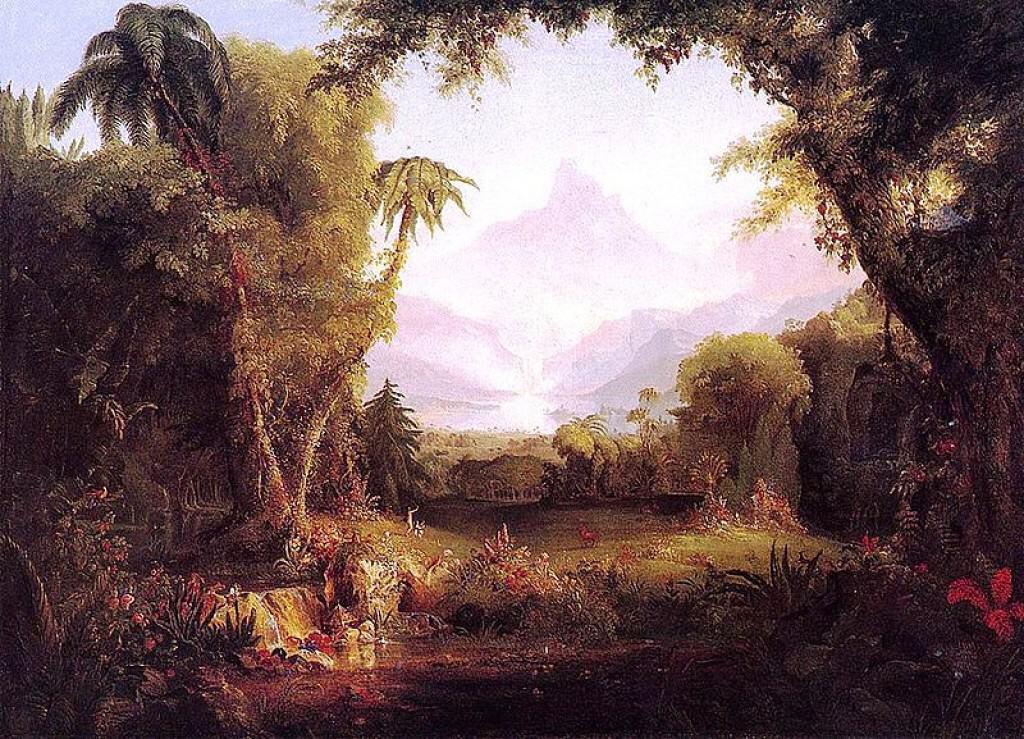 Thomas Cole's The Garden of Eden.
