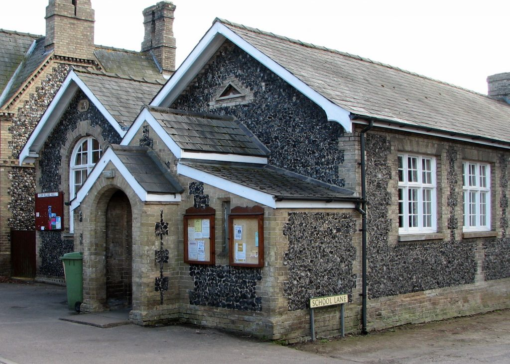 "Village Hall at Fornham St. Martin. Is this the ""Land of St. Martin""?"