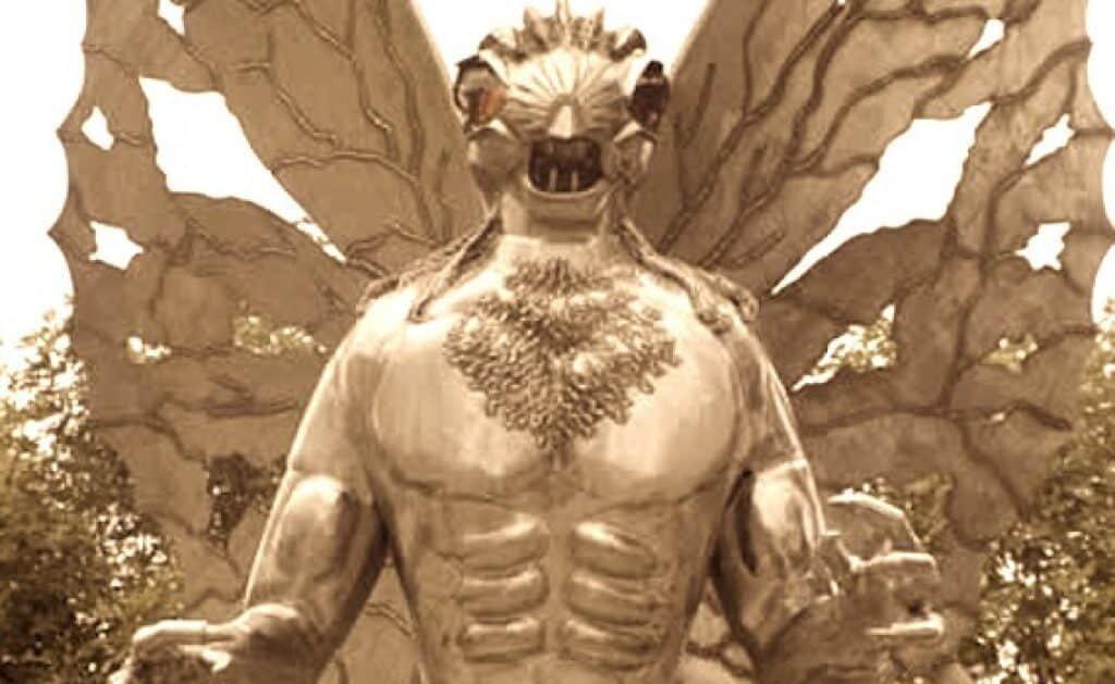 The Mothman statue in Point Pleasant, West Virginia