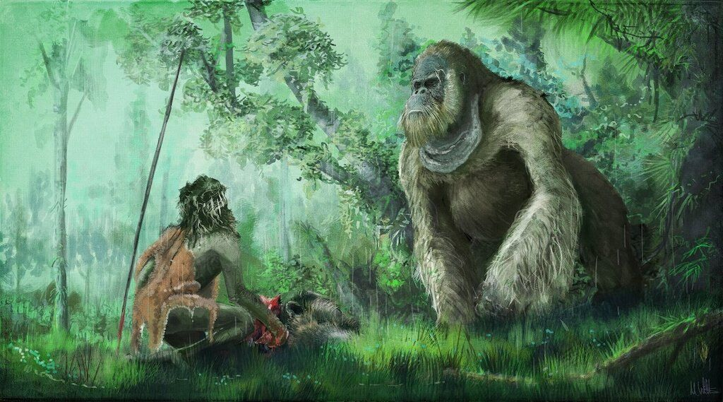 Gigantopithecus blacki could very well be the ancient giants prehistoric man talked about.