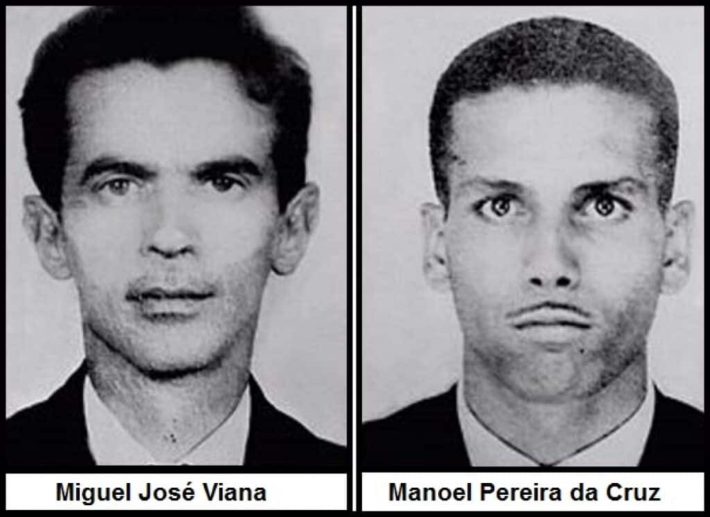 The mysterious circumstances surrounding the deaths of Miguel José Viana (34) and Manoel Pereira da Cruz (32), became known as the Lead Masks Case.