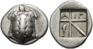 Drachma of Aegina, 6th century BC
